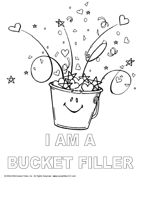 Bucket Filler Coloring Page For More Information About Our