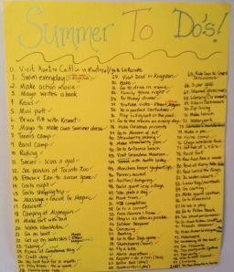Short term goals for the summer